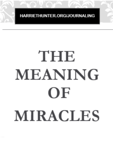 Meaning of Miracles
